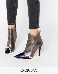 Terry de Havilland Pixie Silver Heeled Ankle Boots