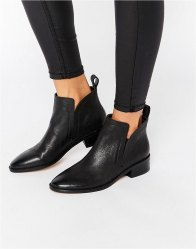 Dolce Vita Tessey Leather Heeled Ankle Boots Black leather