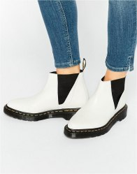 Dr Martens Bianca White Chelsea Boots White polished smoot