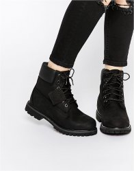 Timberland 6 Inch Premium Lace Up Flat Boots