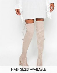 ASOS KINGDOM Stretch Over The Knee Heeled Boots