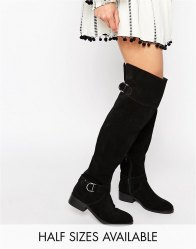 ASOS KNOWLEDGE Suede Over The Knee Boots