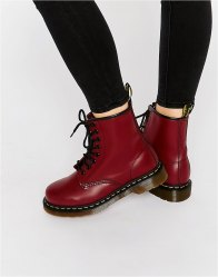 Dr Martens Cherry Red Smooth 8 Eye Boots Cherry red