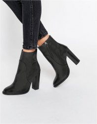 ASOS ELLE Leather Sock Boots