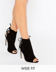 ASOS ELEVATE Wide Fit Lace Up Heeled Boots