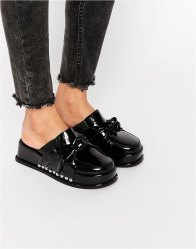 Jeffrey Campbell Knot Patent Platform Sandals Black box