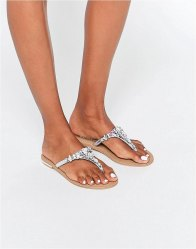 Head Over Heels By Dune Embellished Flat Sandals