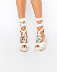 ASOS TROPICAL Embellished Wedges