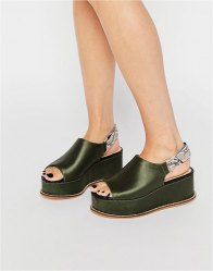 KG By Kurt Geiger Satin Flatform Sandals