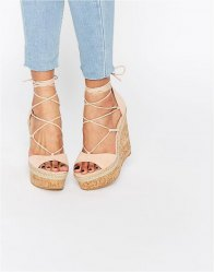 ASOS TAMMI Lace Up Wedge Sandals
