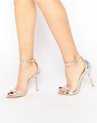 Glamorous Patent Two Part Heeled Sandals