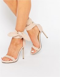 Missguided Knot Barely There Heeled Sandals