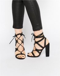 Missguided Plaited Block Heeled Sandals