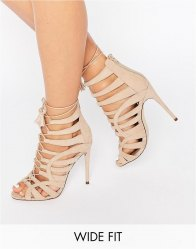ASOS HARPER Wide Fit Lace Up Heeled Sandals