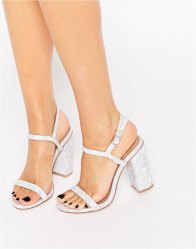 ASOS HELLO Heeled Sandals Blue lace