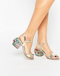 ASOS HARROGATE Embellished Heeled Sandals