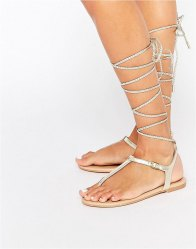 ALDO Peplow Ghillie Tie Leather Flat Sandal
