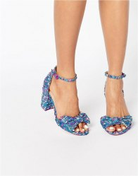 ASOS HAMMOCK Novelty Bow Block Heel Sandal Multi