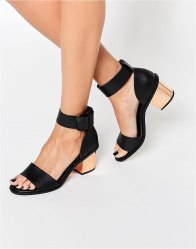 ASOS TAKER Two Part Leather Sandals