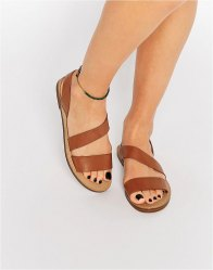 Pull Bear Strappy Sandals Leather