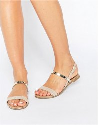 Call It Spring Brasi Natural 3 Part Flat Sandal Natural