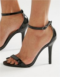 Glamorous Patent Two Part Heeled Sandals patent