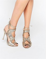 KG By Kurt Geiger Horatio Laser Cut Ghillie Heeled Sandals
