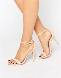 Glamorous Pink Two Part Heeled Sandals