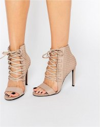Senso Opal Caramel Leather Eyelet Detail Heeled Sandals Caramel