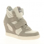Ash Cool Suede Strapped Wedge Trainers