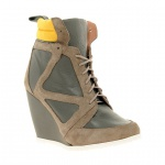 ASOS ARK Leather Wedge Ankle Boots