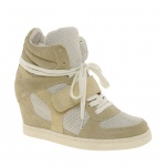 Ash Cool Suede Colourblock Strapped Wedge Trainers