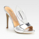 Aperlai Marilyn Translucent Metallic Leather Sandals