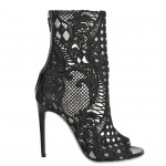 Balmain 110mm Guipure Lace Open Toe Boots