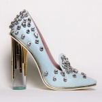 Christian Siriano Crystal Blue Pump