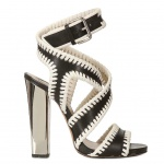 Etro 120mm Mirrored Heel Leather Sandals