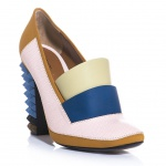 Fendi - Polifonia studded heel court shoes