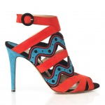 Nicholas Kirkwood for Prabal Gurung Red Sky Print Bootie