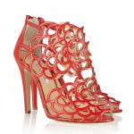 Oscar de la Renta Gladia cutout leather sandals