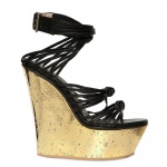 Emilio Pucci 150mm Mirrored Cork And Calfskin Wedges