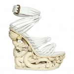 Emilio Pucci 150mm Dragon Resin And Calfskin Wedges