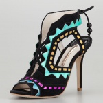 Sophia Webster Riko Holographic Lace-Up Sandal