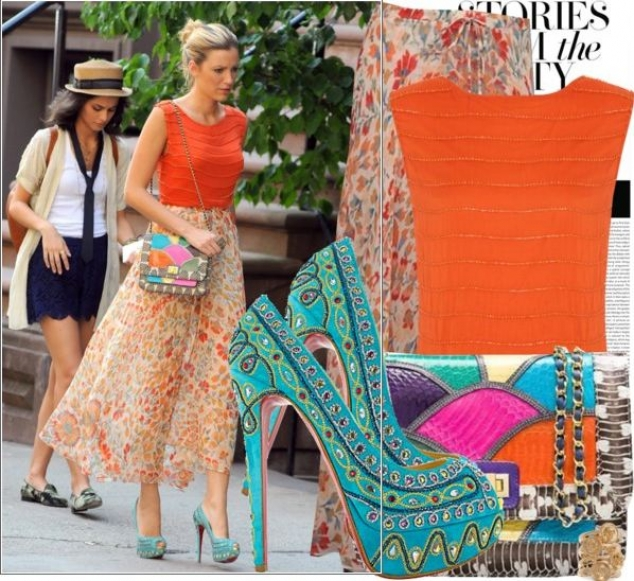 Η Blake Lively με Christian Louboutin Pumps