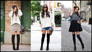 Over the knee boots: πως να τις συνδυάσετε